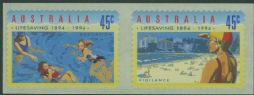 AUS SG1443-4 Centenary of Organised Life Saving in Australia self-adhesives set of 2 from roll
